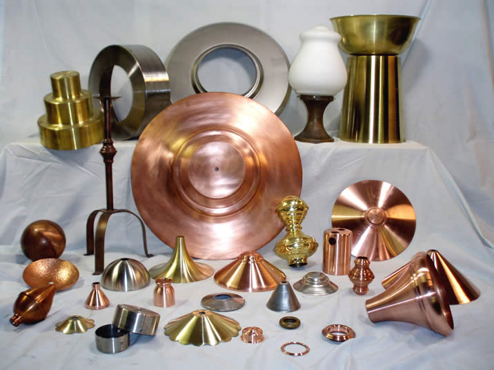 Metal Spinning, Stamping, Fabrication of Brass, Copper, Stainless Steel as Shown Here and Other Metals