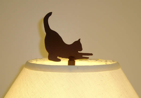 CAT FINIAL 4-inch UNFINISHED STEEL