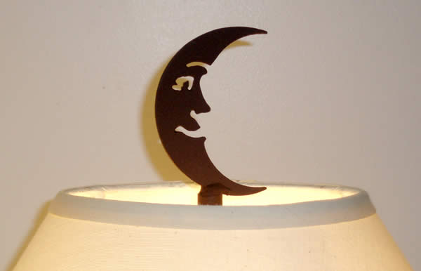 CRESCENT MOON FINIAL 4-inch UNFINISHED STEEL