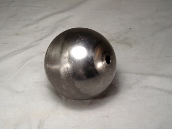 FULL 4-inch BALL, 18GA CRS, 13/32 (.406) THROUGH HOLE CENTER