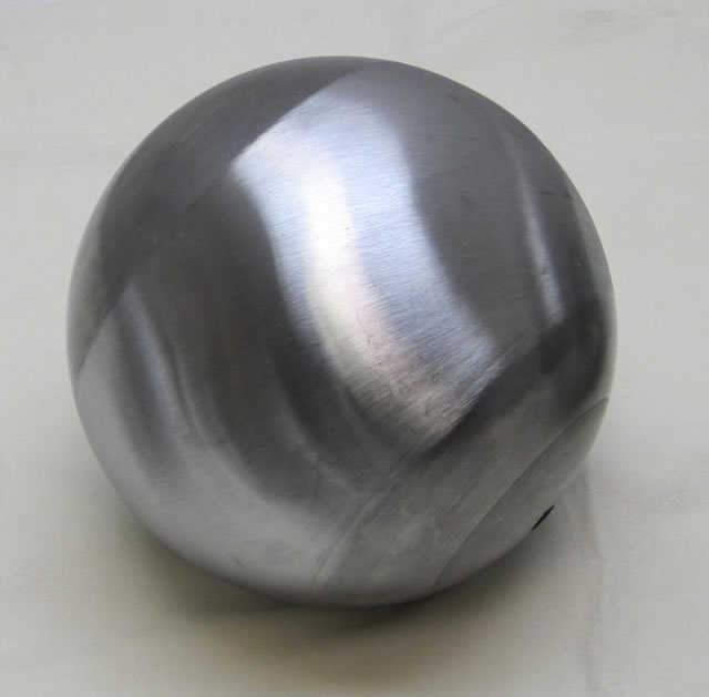 FULL 7-inch BALL, 16GA CRS, 13/32 (.406) THROUGH HOLE CENTER