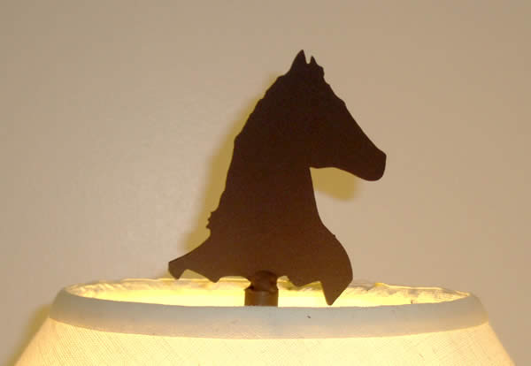 HORSE HEAD FINIAL 4 1/2-inch UNFINISHED STEEL