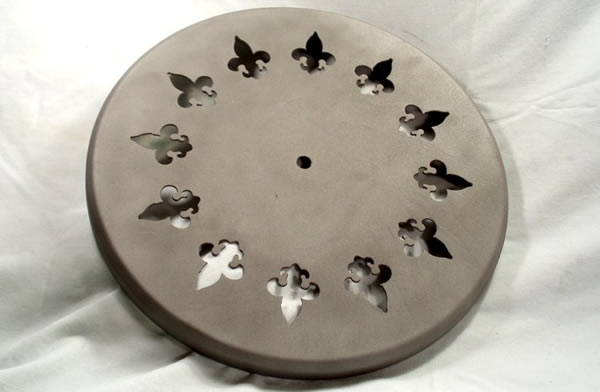 Lighting Base/Canopy 18GA CRS with 12 Fleur De Lis Cut Out