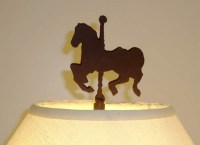 CAROUSEL HORSE FINIAL 4 1/2-inch UNFINISHED STEEL