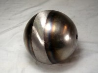FULL 5-inch BALL, 18GA CRS, 13/32 (.406) THROUGH HOLE CENTER