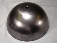 HALF 6-inch BALL, 16GA CRS, 13/32 (.406) CENTER HOLE