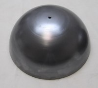 HALF 7-inch BALL, 16GA CRS, 13/32 (.406) CENTER HOLE